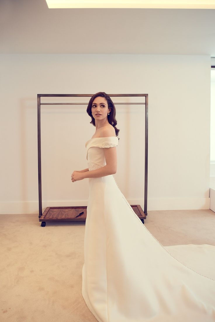 Inside Emmy Rossum's Final Wedding Dress Fitting with Carolina Herrera