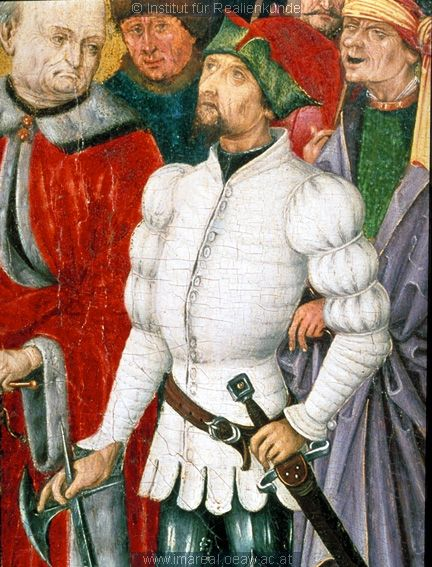 1480 ; 1490 ; St. Florian ; Österreich ; Oberösterreich ; Stiftssammlung.JPG // german style puff sleeve in padded doublet