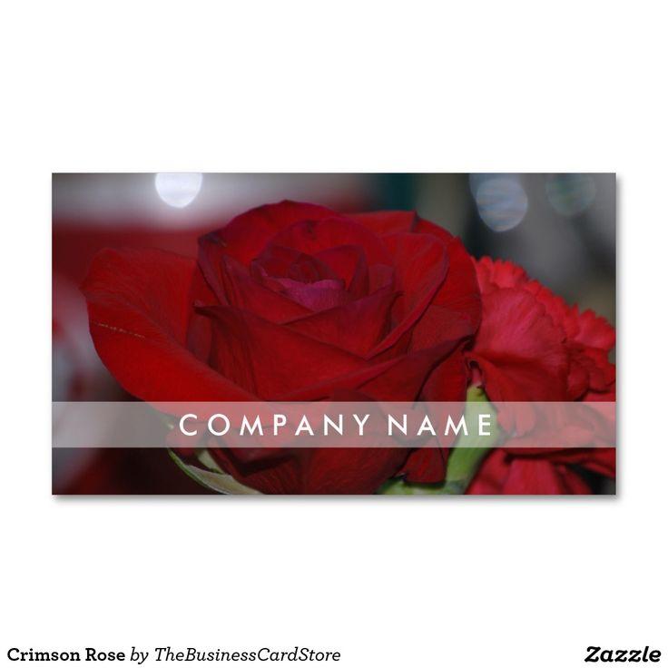 Crimson Rose Standard Business Card