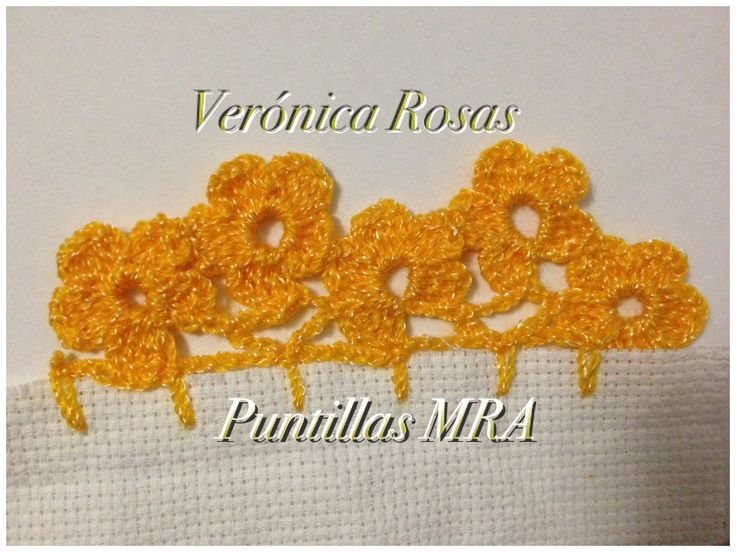 Puntilla para servilleta MRA Veronica Rosas