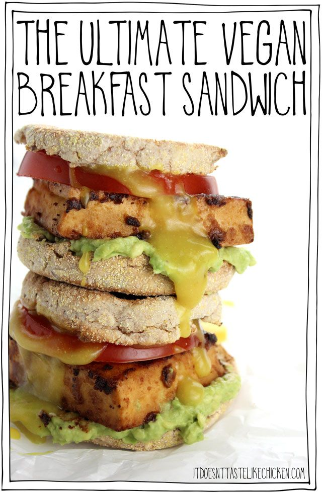 The Ultimate Vegan Breakfast Sandwich Recipe Vegan Sandwich Recipes Vegan Breakfast