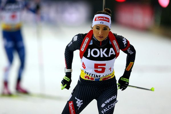 Dorothea Wierer of Italy skates during the JOKA Biathlon World Team Challenge 2016 at Veltins-Arena on December 28, 2016 in Gelsenkirchen, Germany.