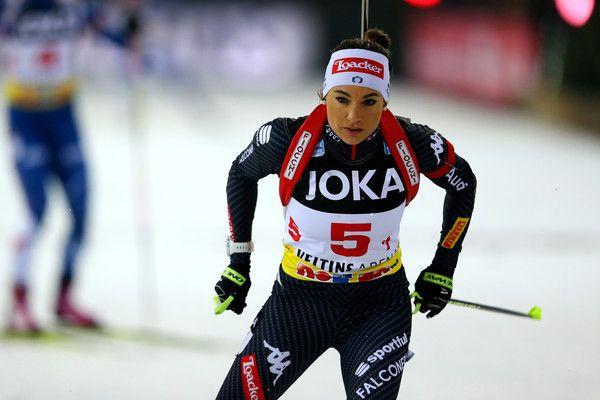 Dorothea Wierer of Italy skates during the JOKA Biathlon World Team Challenge 2016 at Veltins-Arena on December 28, 2016 in Gelsenkirchen, Germany.