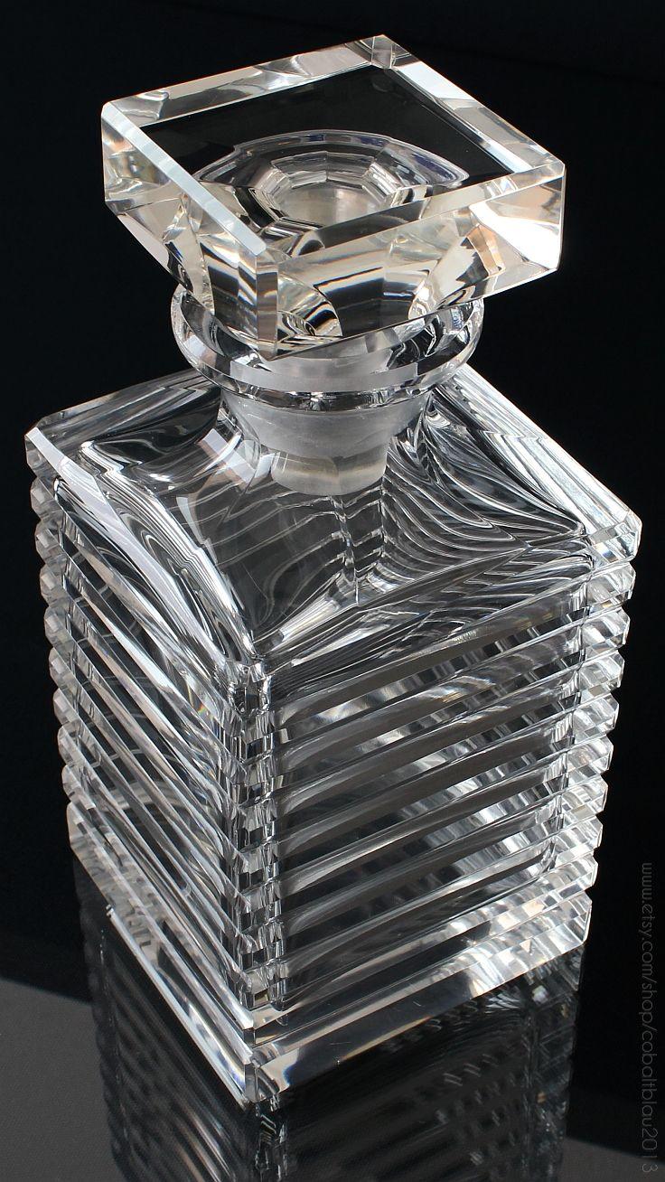 Vintage Lead Crystal Whiskey Scotch Decanter   Barware & Bar Cart Accessories : https://www.etsy.com/shop/cobaltblau2013?ref=hdr_shop_menu