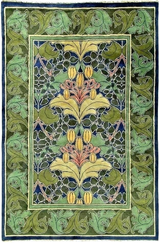 Craftsman Style Rugs Arts And Crafts Lily Vine 1 Craft
