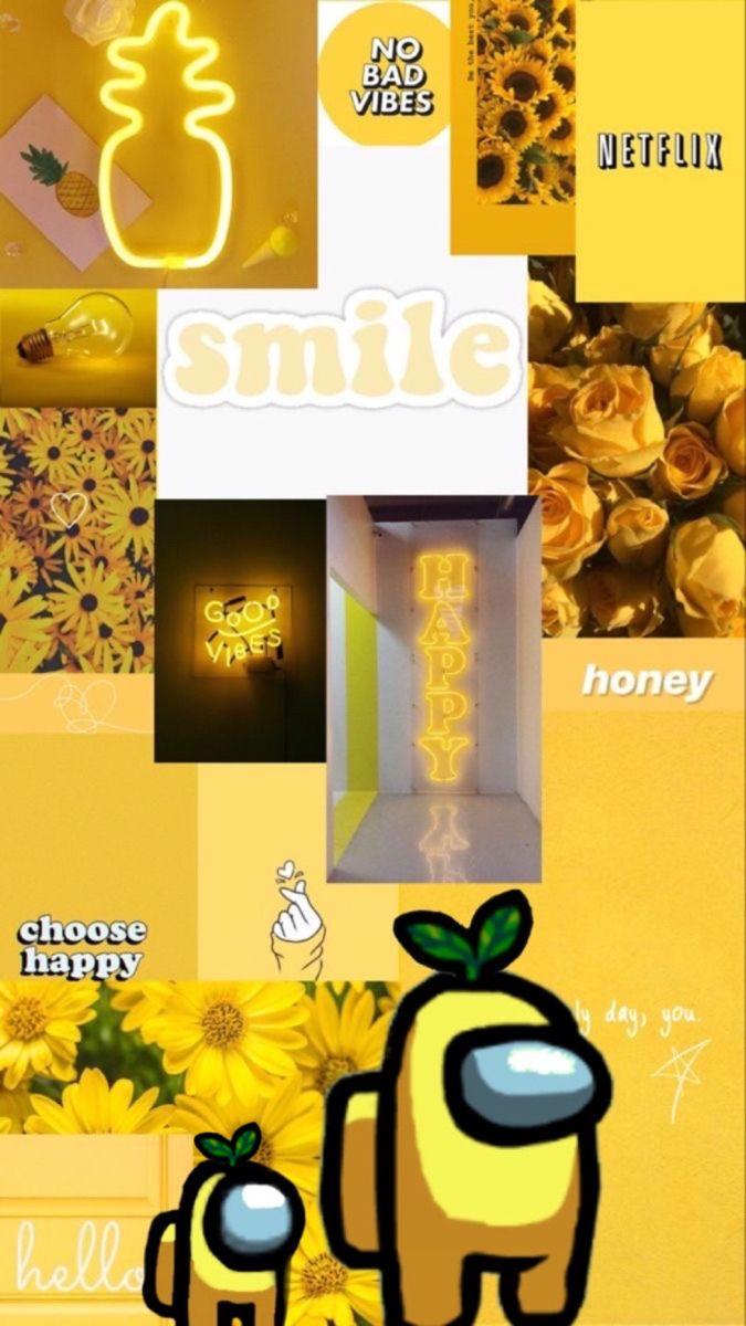 Among Us Iphone Wallpaper Yellow Aesthetic Iphone Wallpaper Cool Backgrounds Wallpapers