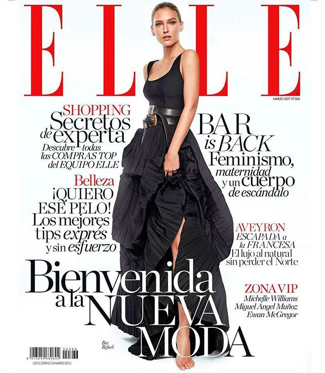 Nuevo ELLE y nueva portada de @barrefaeli. Mañana en quioscos! (Fotos: @xavigordo / Realización @inmajimenezelle. Ayudante de estilismo @danielagtzgzz. Maquillaje y peluquería @vickymarcosg para @diormakeup y @ghdspain) A la venta el 21 de febrero #barisback #barrefaeli #portada2 #2 #nuevamoda #albertaferretti  via ELLE SPAIN MAGAZINE OFFICIAL INSTAGRAM - Fashion Campaigns  Haute Couture  Advertising  Editorial Photography  Magazine Cover Designs  Supermodels  Runway Models