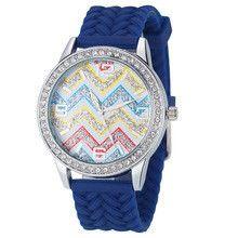 Geneva regalo horloge Luxury Fashion Women Waves Diamond Black Silicone Quartz Wrist Watch Watches Casual Watch Top Quality