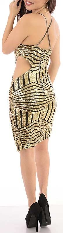 Need A Clue (Gold)-Great Glam is the web's best online shop for trendy club styles, fashionable party dresses and dress wear, super hot clubbing clothing, stylish going out shirts, partying clothes, super cute and sexy club fashions, halter and tube tops,