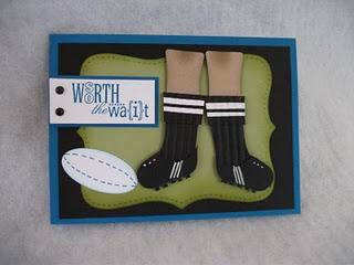 fun card made using stocking punch