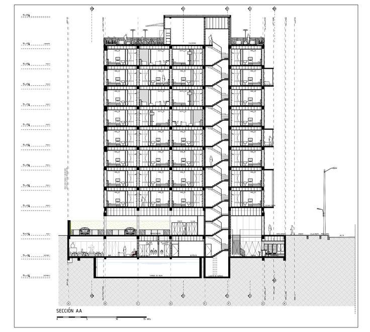 hotel click clack plan b arquitectos architecture. Black Bedroom Furniture Sets. Home Design Ideas