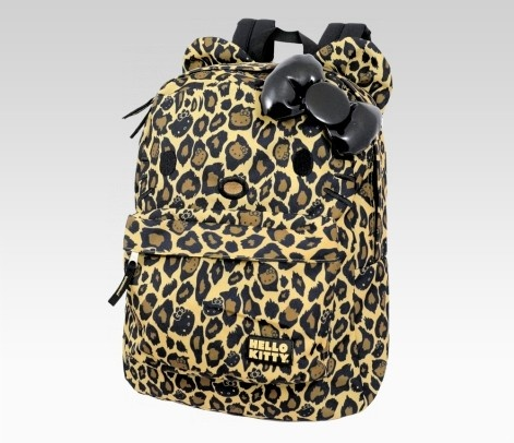 Leopard hello kitty backpack oooh yess!
