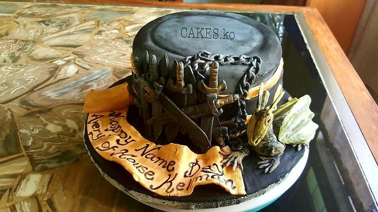 Game of Thrones inspired Birthday cake. Click link to my business page for more of my work.