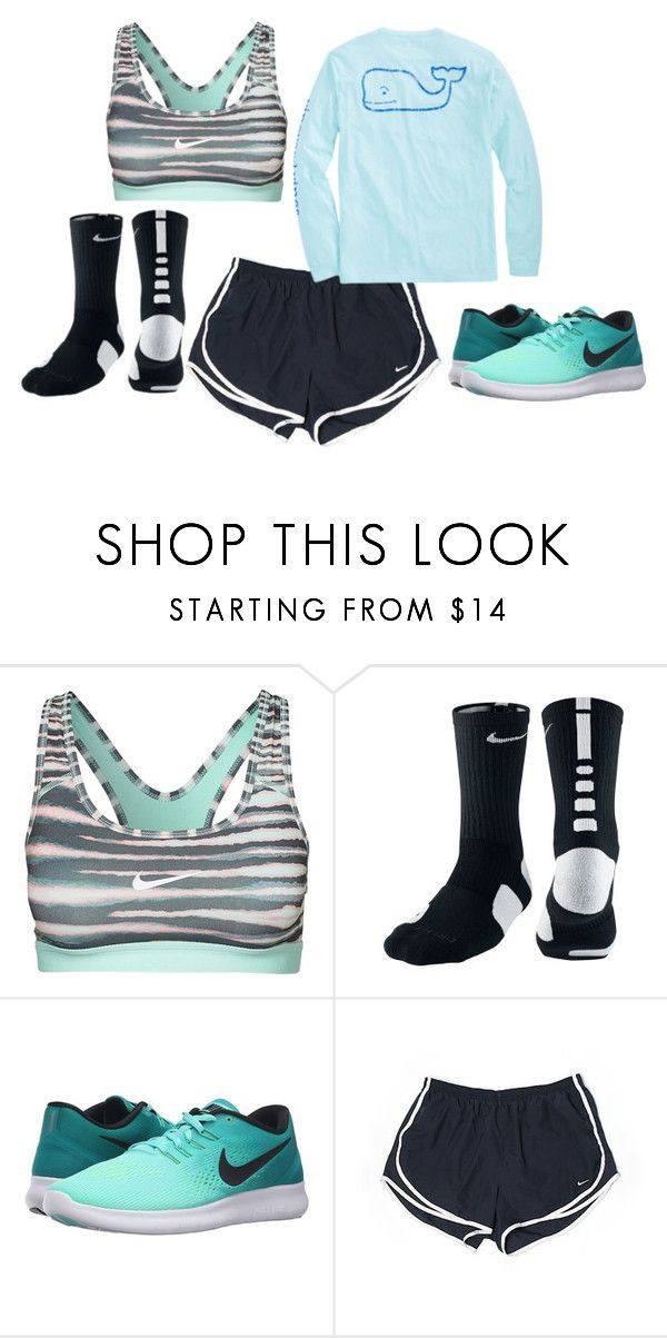 """Exercise Outfit"" by michaela0108 on Polyvore featuring NIKE and Vineyard Vines"