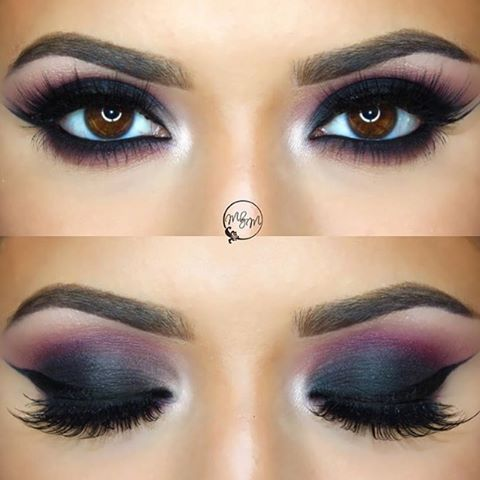 Purple and black - nice! #eyeshadow
