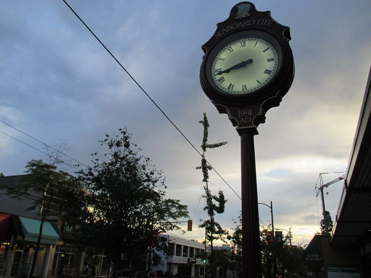 Clock, Yew Street Kerrisdale, Vancouver, BC, Summer