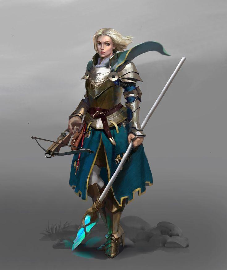 ArtStation - holy knight, cg_ sister