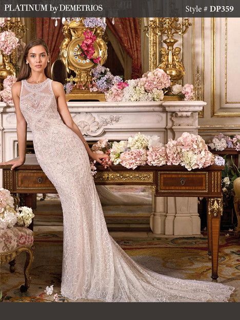 DP359 gown from the 2018 Platinum by Demetrios collection, as seen on dressfinder.ca