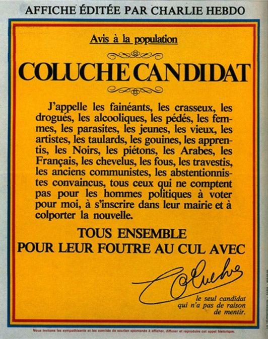 La candidature de Coluche à la présidentielle de 1981
