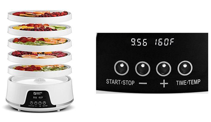 Electric Food Dehydrator Fruit Vegetable Dryer Jerky Maker 5 Trays Digital 600W #NewFoodDehydrators