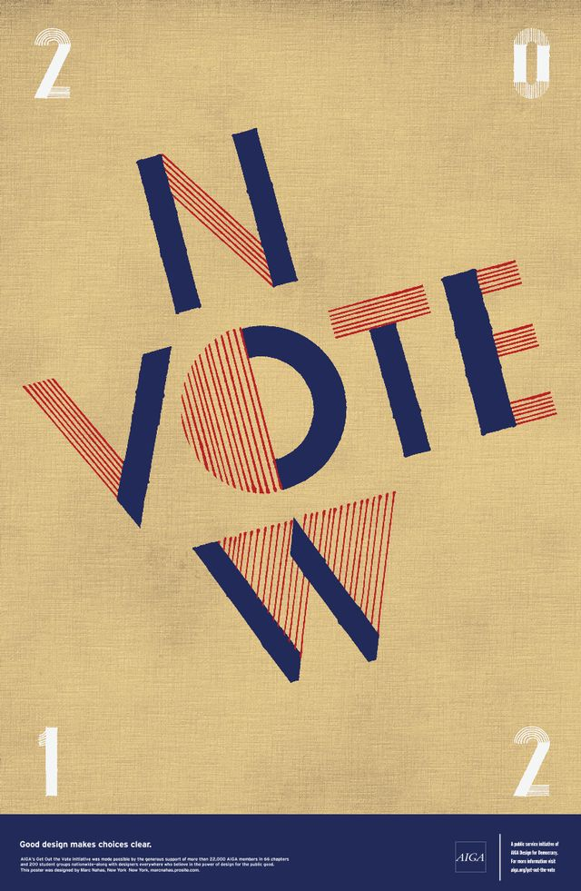 "AIGA ""Get Out the Vote"" Posters #classroominspiration"