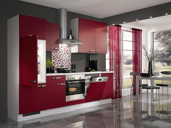 Lovely Red Kitchen Design Ideas, Pictures And Inspiration Part 28