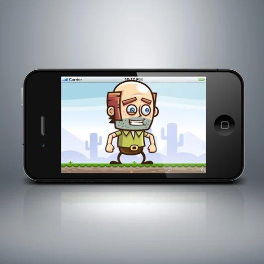 Baldy Man Game Character Sprites - Bevouliin