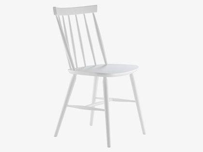 TALIA WHITES Wood White dining chair - HabitatUK