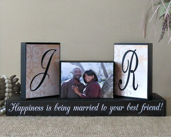Personalized Unique Wedding Gift for Couples - Wedding Wood Sign- Wedding Shower Ideas - Happiness Is Being Married To Your Best Friend