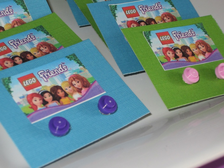 Lego Friends Party - earrings made from 1x1 round Lego plates. #legofriends #birthday & Best 86 Lego Friends Party ideas on Pinterest | Birthdays ...