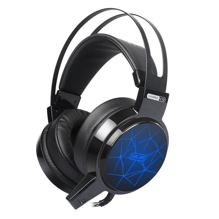 Salar C13 Gaming Headset Stereo Deep Bass Game headphone Computer Headsets with microphone LED light for Computer pc gamer lol