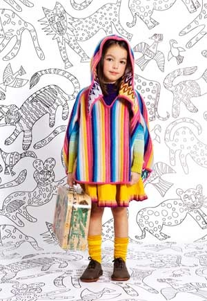 missoni girls striped poncho fall winter 2013 collection from Italy. click here to learn more http://www.dashinfashion.com/news/missoni-kids-fall-winter-2013-collection.html