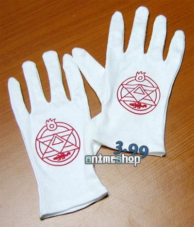 Roy Mustang Flame Alchemist Gloves $7.99