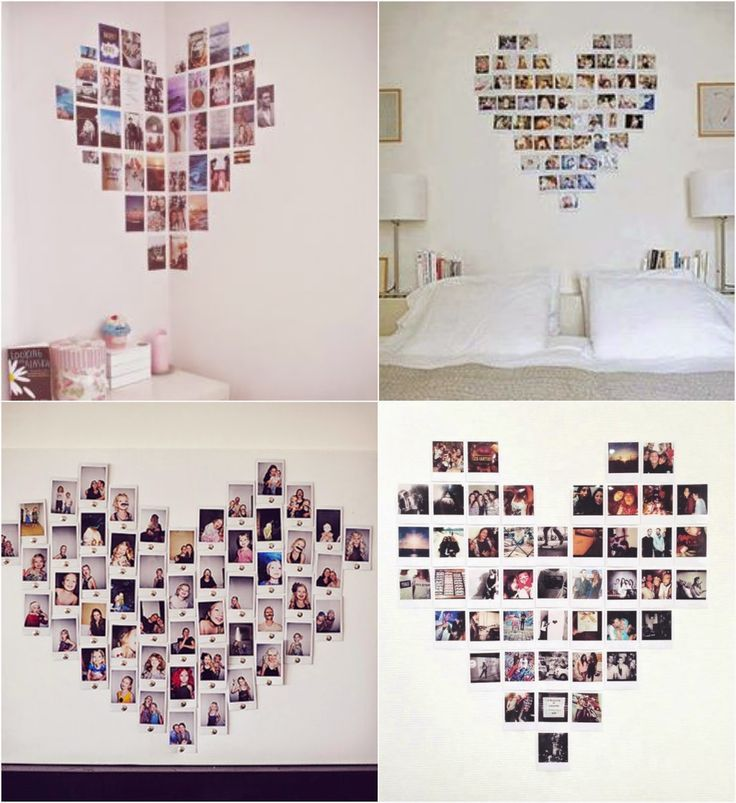Bedroom decor, diy room decor, home decor, photo collages, heart picture . Cute Room Decor, Teen Room Decor, Room Ideas Bedroom, Bedroom Decor, Bedroom Designs, Cool Dorm Rooms, Aesthetic Room Decor, Home Decor, Heart Picture Collage