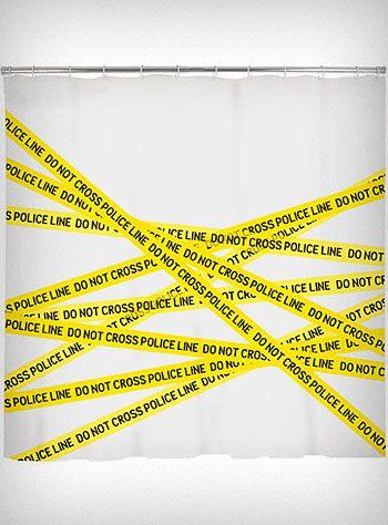for g's room Crime Scene Shower Curtain, $12.98