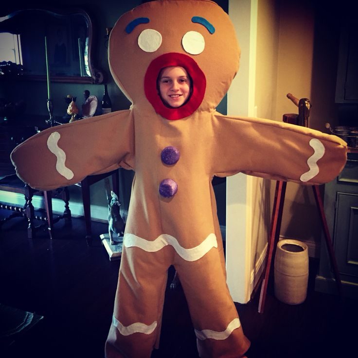 "Just finished sewing ""Gingy"", The Gingerbread Man for sixth grade play... Shrek The Musical"
