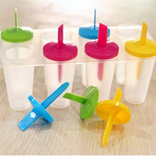 8-Cell-Pop-Mold-Popsicle-Maker-Lolly-Mould-Tray-Pan-Kitchen-Frozen-Ice-Cream-New