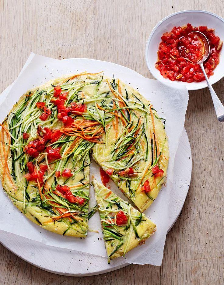 Zucchini-Frittata mit Tomaten-Topping - [ESSEN UND TRINKEN]