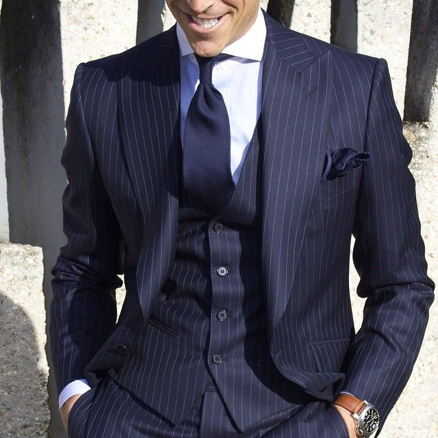 Lawd I Love A Man In Navy Pinstripe Suit