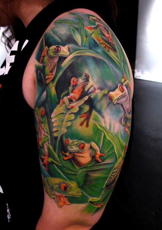 17 best images about realistic 3d frog tattoo ideas on for Realistic tree tattoos