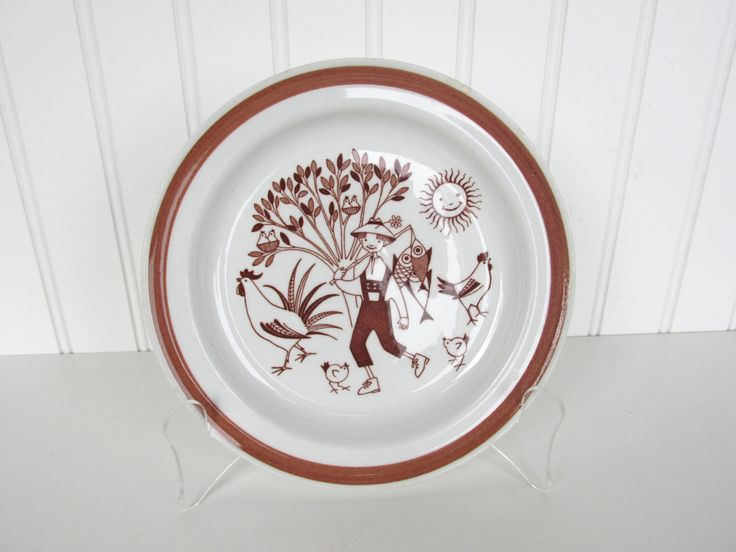 Vintage Arabia Finland Child's Plate by HerVintageCrush on Etsy