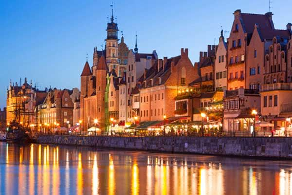 The Polish port city of Gdansk is the new Prague, according to the January edition of Germany's Glamour magazine.