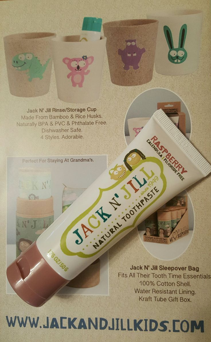 Jack N' Jill raspberry natural toothpaste for kids