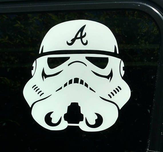 Star wars atlanta stormtrooper die cut vinyl decal sticker