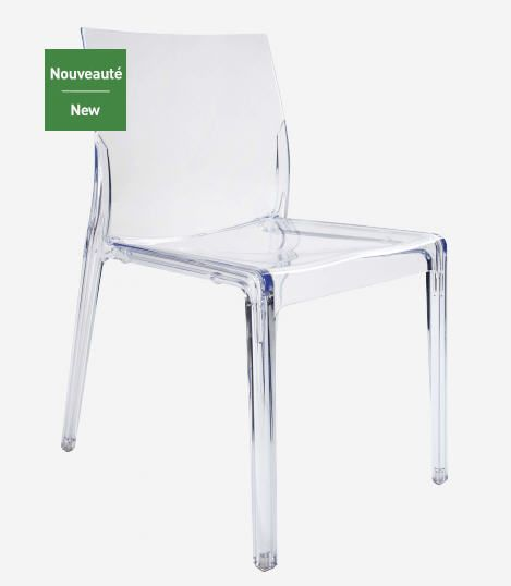1000 ideas about chaise polycarbonate on pinterest polycarbonate fauteuil - Chaise transparente habitat ...