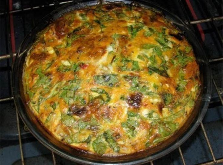 Quiche Basic...Then You to Add Your Favorites #eggs #cheese #and #meat #quiche #milk #veggies #justapinchrecipes