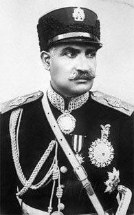 1920s photo of Shah Reza Pahlavi.