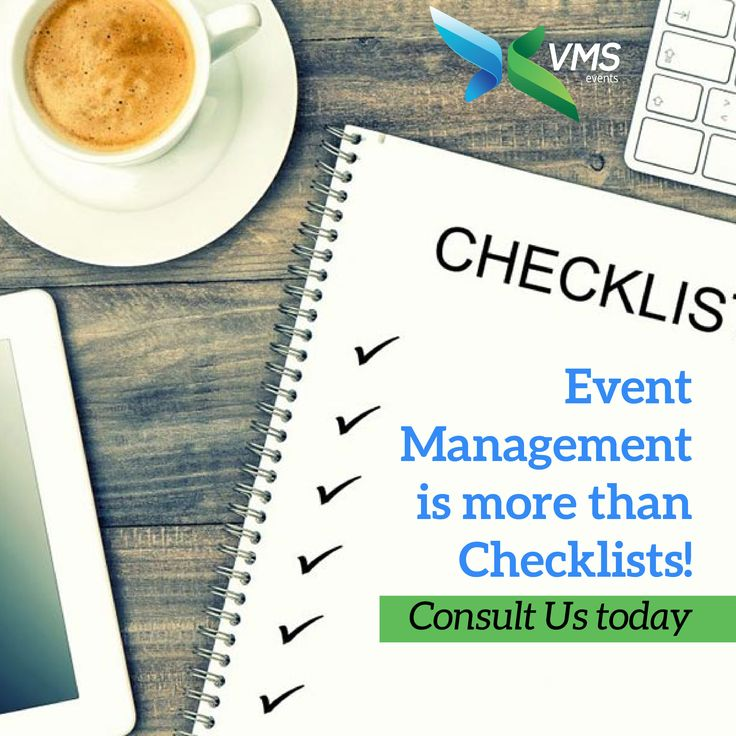 Event Management is more than Checklists! Consult Us today #VmsEventsPvtLtd