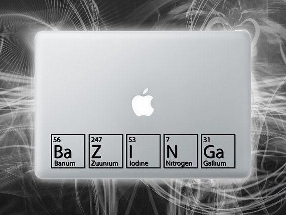 The Big Bang Theory inspired vinyl Bazinga by Walkingdeadpromotion, $9.99Vinyls Decals, Decals Ideas, Today Macbook, Big Bang Theory, Geek Awesome, Cars Decals, Big Bangs Theory, Laptops Decals, Macbook Decals
