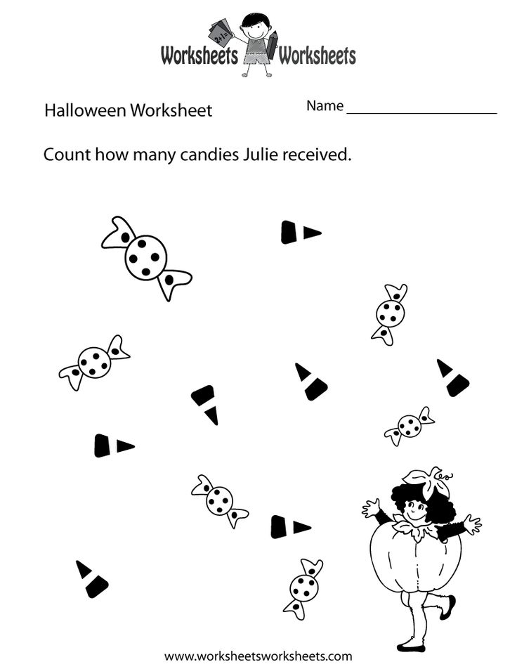 8 Best Free Halloween Worksheets Images On Pinterest